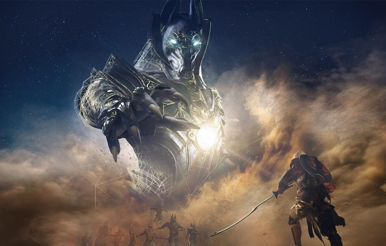 Photo wallpaper Origins, Ubisoft, Assassin's Creed, Anubis, Assassin's Creed: Origins