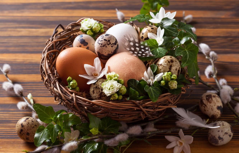 Photo wallpaper eggs, Easter, socket, Verba