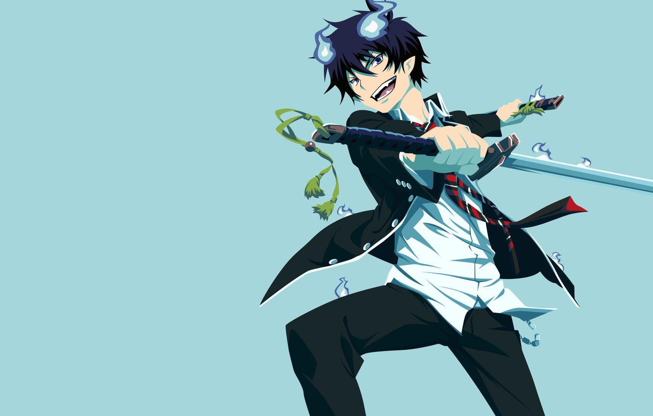 Wallpaper Guy Rin Ao No Exorcist Rin Okumura Poludemon
