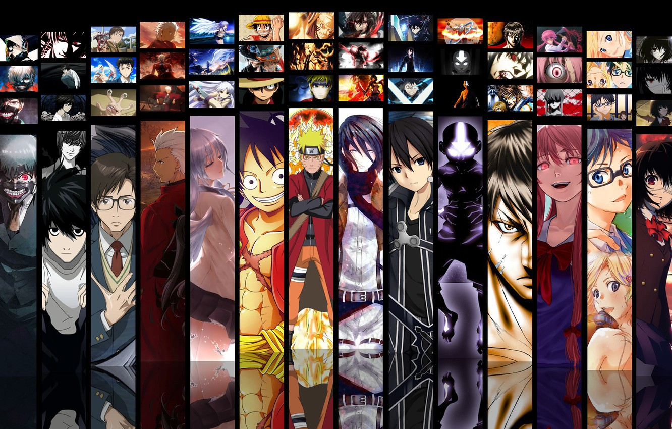 Photo wallpaper game, Death Note, Naruto, Anime, Fate/Stay Night, One Piece, pirate, alien, crossover, ninja, asian, Angel …