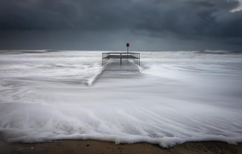 Photo wallpaper sea, shore, wave