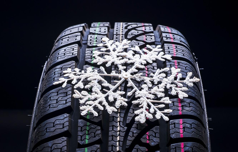 Photo wallpaper macro, winter, wheel, blur, snowflake, bokeh, wheel, protector, bus, snowflake, wallpaper., car, tyre