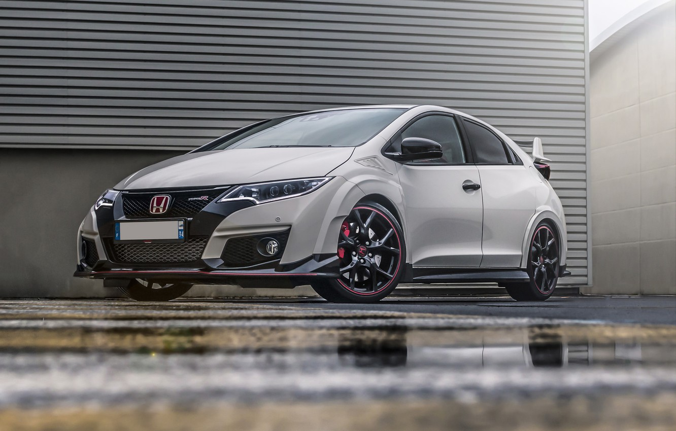 Photo wallpaper Honda, White, Civic, Type-R, FK2