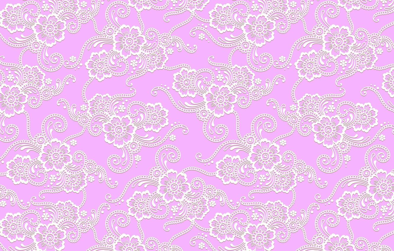 Photo wallpaper flowers, pink, pattern