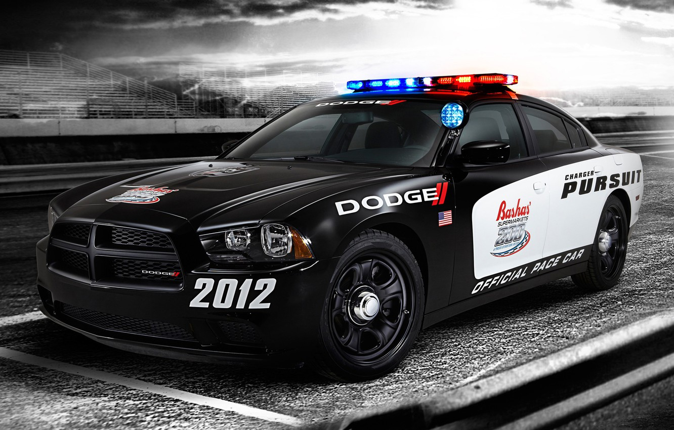Photo wallpaper auto, Dodge, 2012, Charger, US police