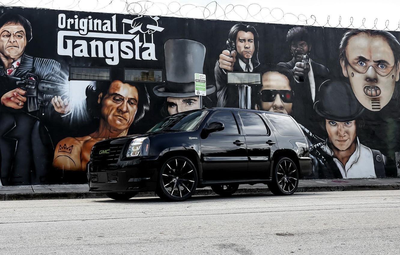 Photo wallpaper Black, Hybrid, GMC, Yukon