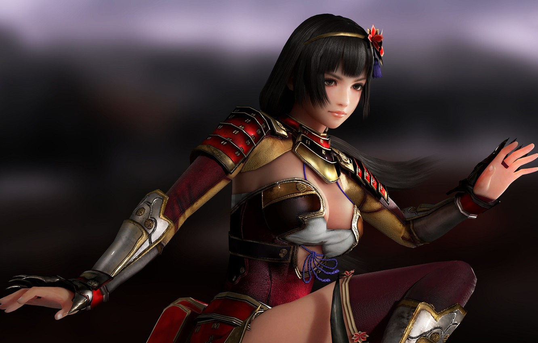Photo wallpaper look, girl, Asian, armor