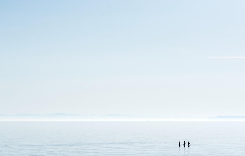 Photo wallpaper sea, the sky, people