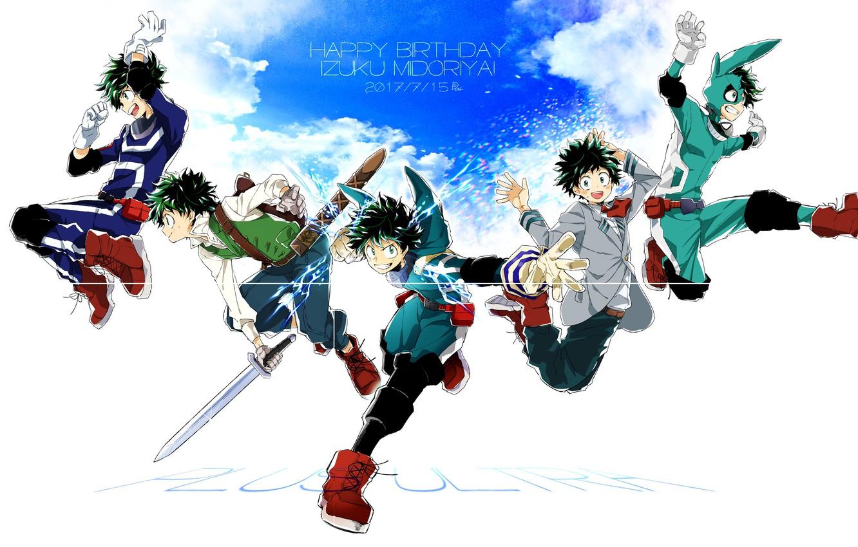 Photo wallpaper the sky, guy, Boku No Hero Academy, Midori Isuku, My Hero Academy