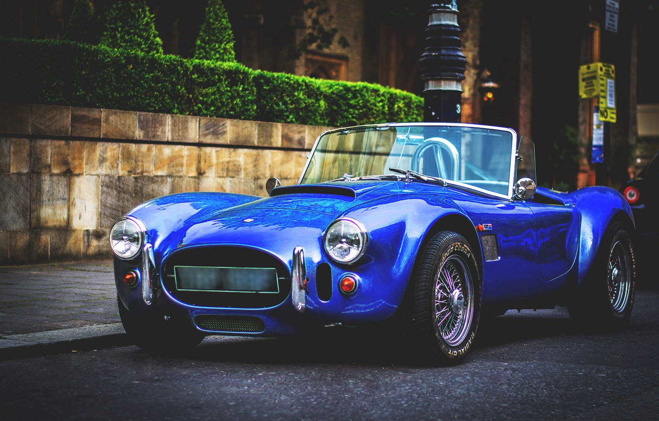 Photo wallpaper Shelby, Street, the front, Cobra