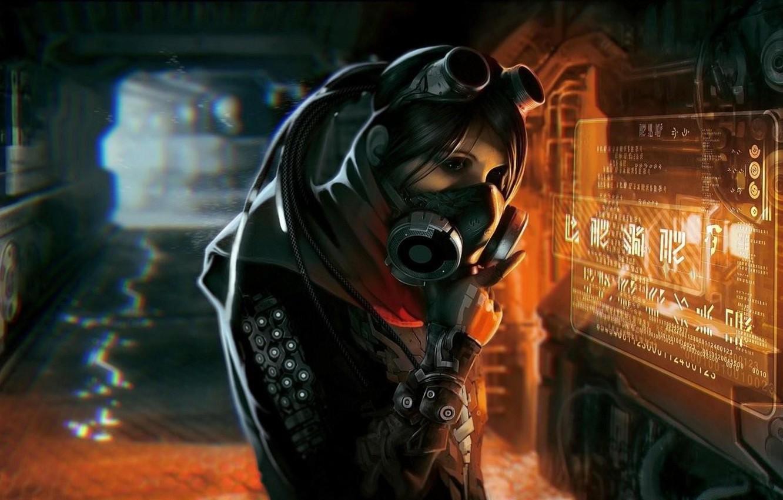 Wallpaper Girl Art Sci Fi Cyberpunk Ultra Hd 4k Images
