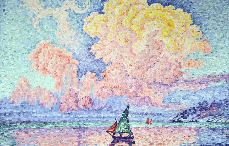 Wallpaper Sea Landscape Boat Picture Sail Paul Signac