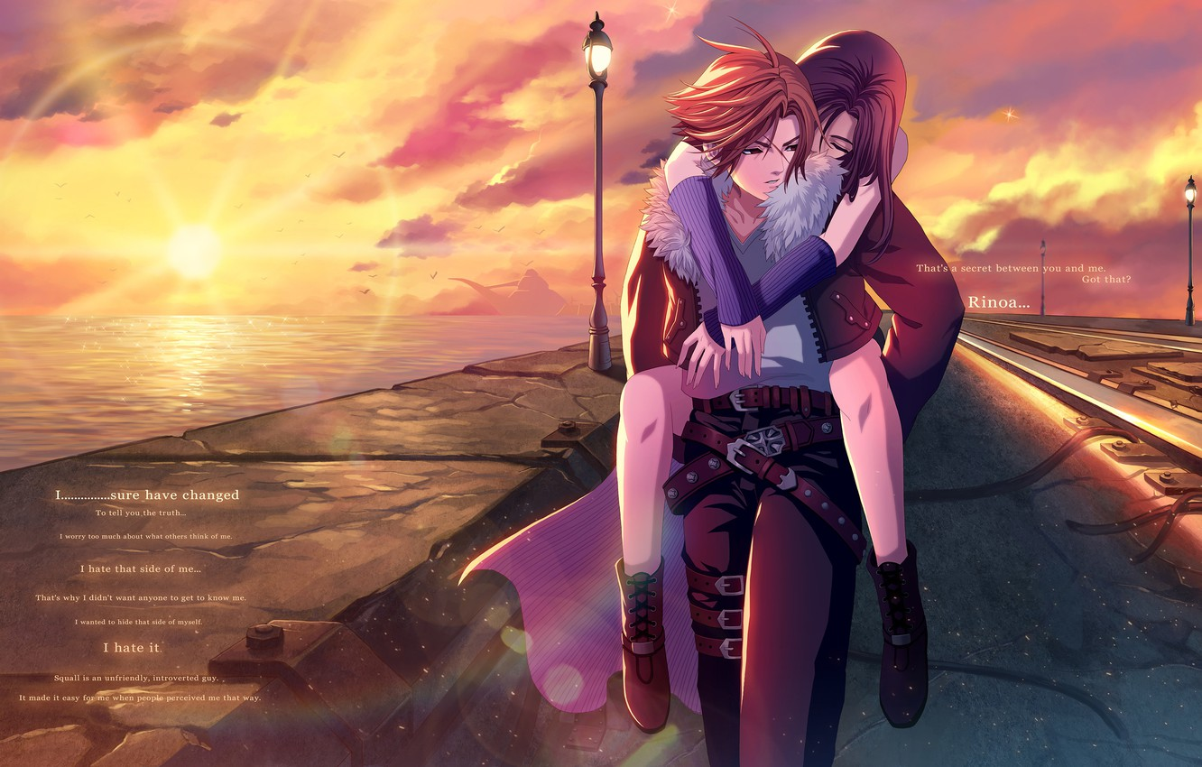 Wallpaper Girl Sunset Guy Two Final Fantasy Viii Images For