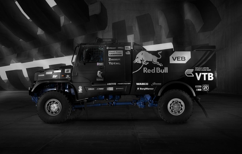 Photo wallpaper Truck, Master, Russia, Kamaz, Rally, KAMAZ, RedBull, Master, 43509, KAMAZ-43509