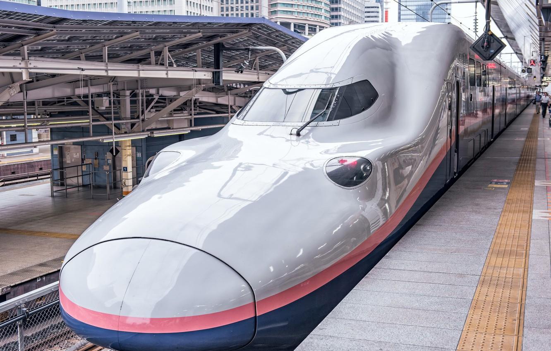 Photo wallpaper Japan, train, E4 Series Shinkansen