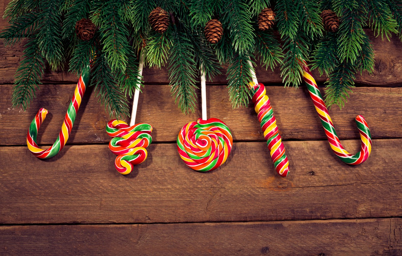 Photo wallpaper tree, New Year, Christmas, lollipops, Christmas, wood, Merry Christmas, Xmas, gift, decoration, lollipop