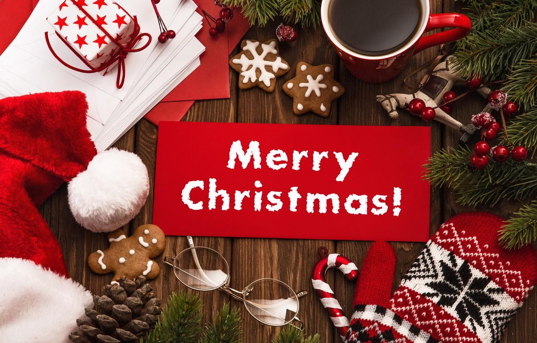 Photo wallpaper New Year, Christmas, christmas, balls, merry christmas, gift, decoration, xmas, santa