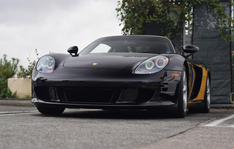Photo wallpaper Porsche, Black, Carrera