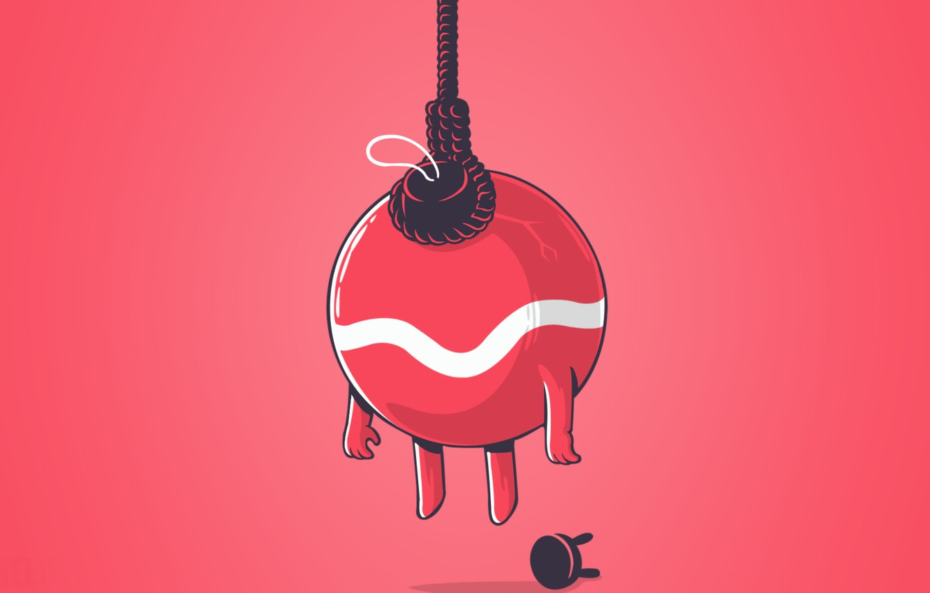 Photo wallpaper new year, ball, minimalism, rope, chair, new year, minimalism, chair, ball, rope, Christmas toy, Christmas …