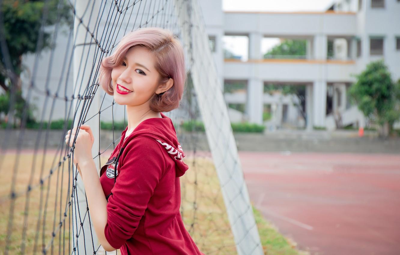 Photo wallpaper look, girl, smile, Asian, cutie