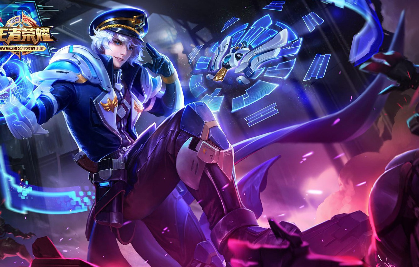 Photo wallpaper the game, art, skill, The king of glory, Zhuge Liang