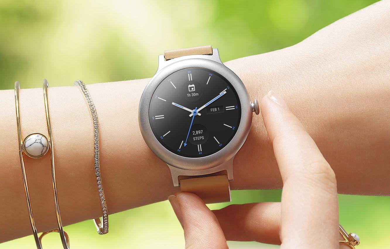 Photo wallpaper style, woman, watch, bracelet, MWC 2017, LG Watch Style