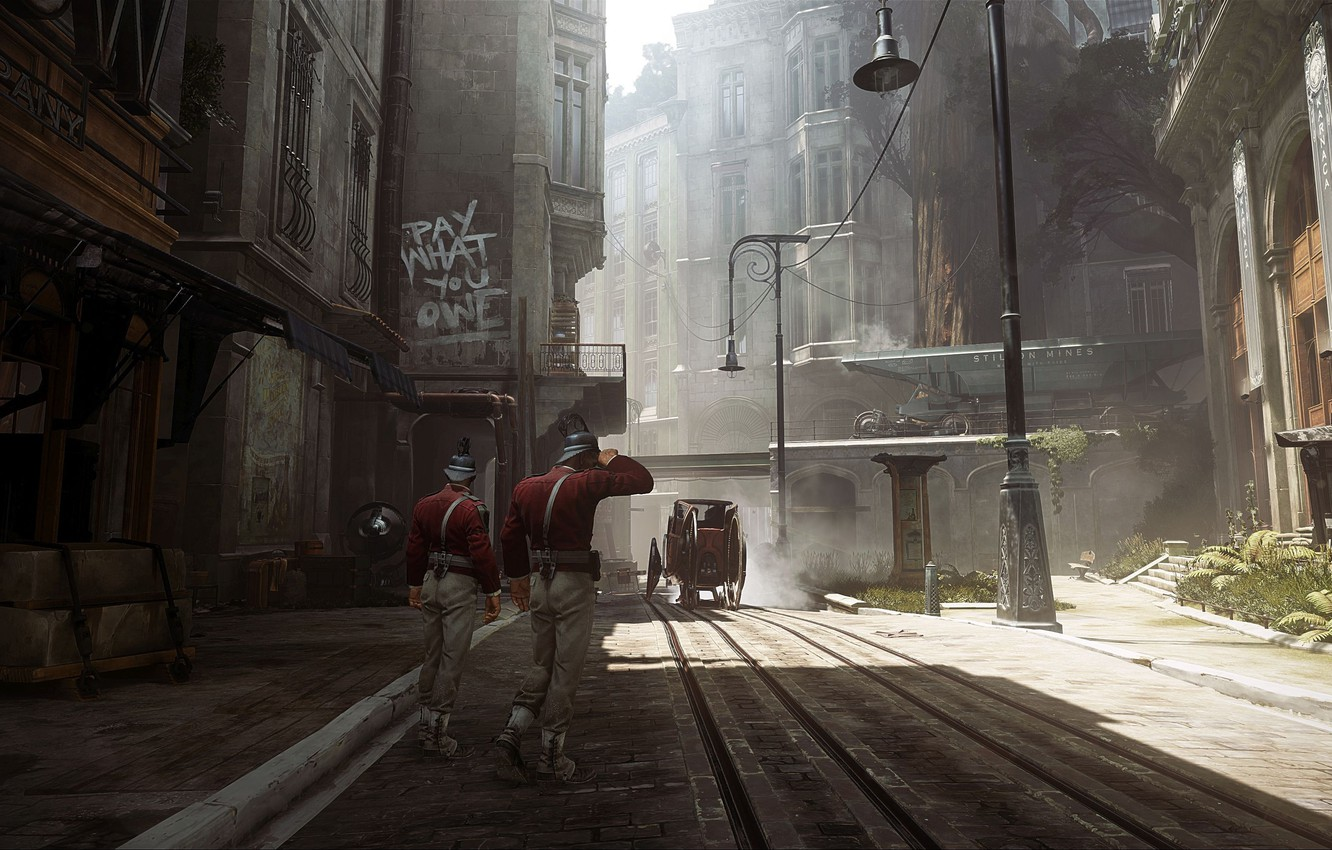 Wallpaper City The City Street The Game Art Guards