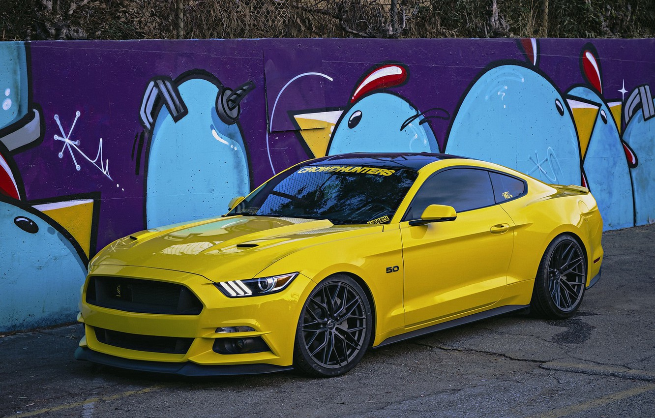 Photo wallpaper Mustang, Ford, Wheels, 305FORGED
