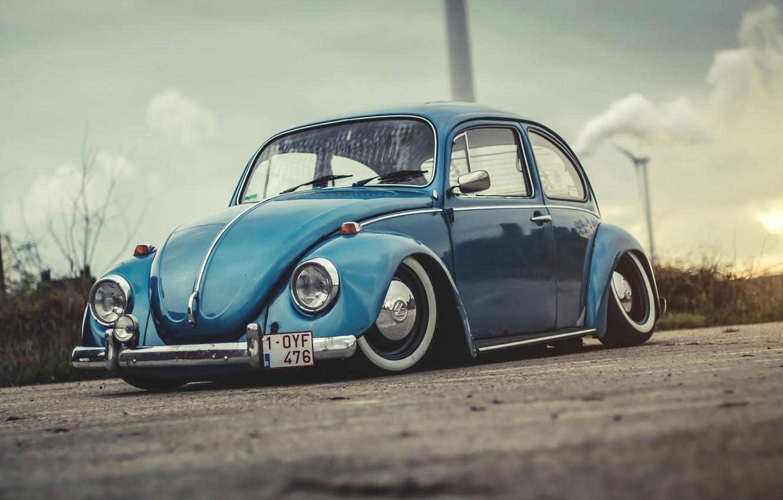 Photo wallpaper Auto, Retro, Machine, Beetle, Beetle, Volkswagen Beetle, 1972, Old, Volkswagen Beetle, Beetle, Bug, 1-OYF 476, …