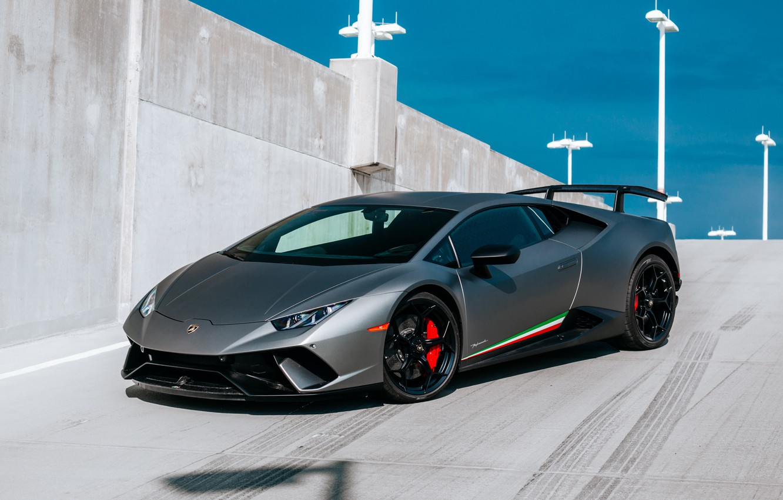 Photo wallpaper Lamborghini, Performante, Huracan, 2017