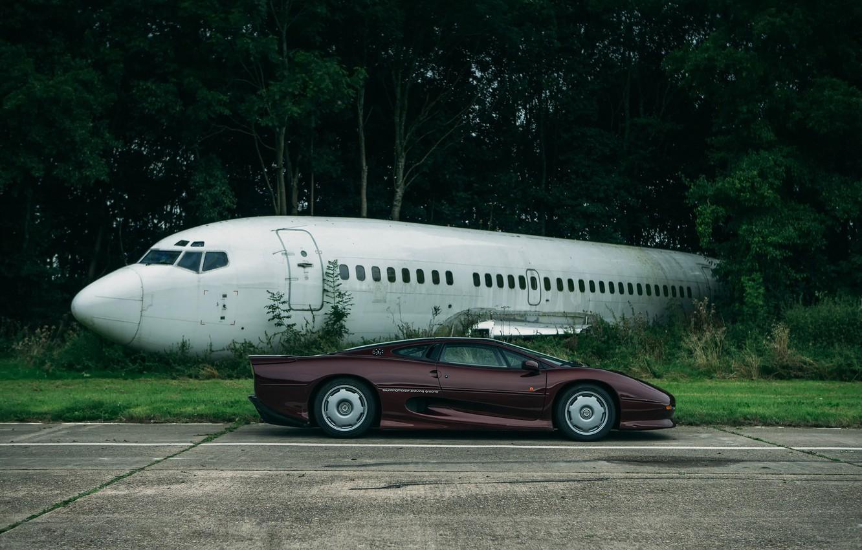 Photo wallpaper Jaguar, the evening, trek, London, the fuselage, XJ220
