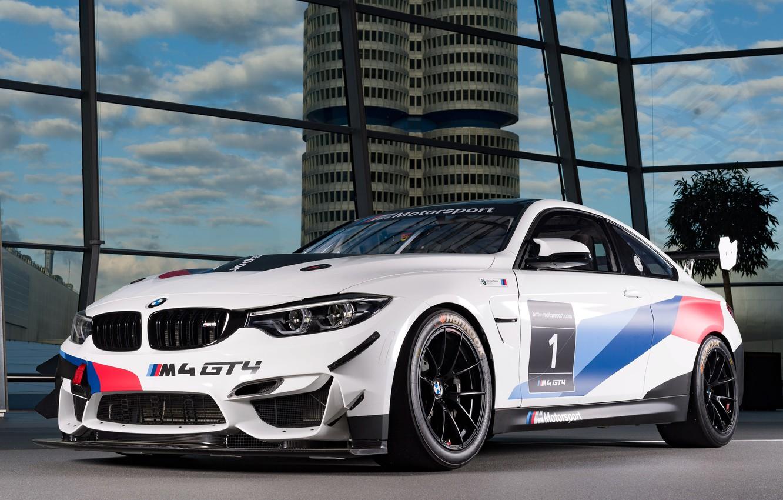 Photo wallpaper BMW, racing car, 2018, GT4, BMW M4