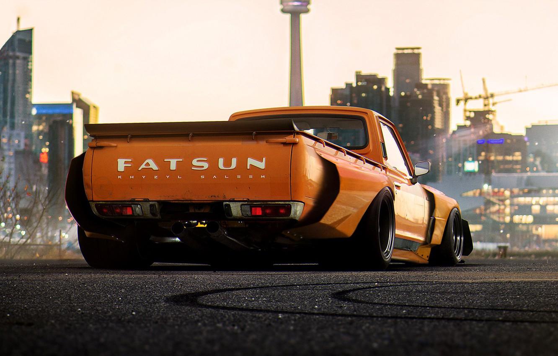 Photo wallpaper Concept, Orange, Car, Pickup, by Khyzyl Saleem, Fatsun