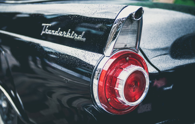 Photo wallpaper car, Ford, headlight, car, classic, Thunderbird