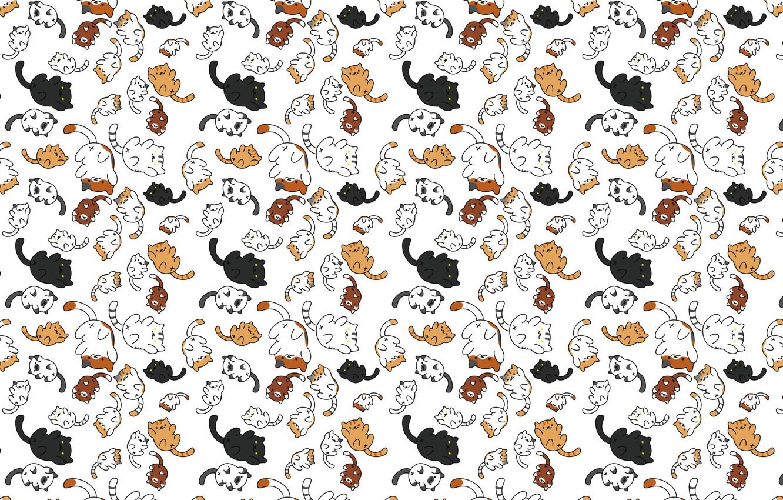 Photo wallpaper vector, art, kittens, seals, children's