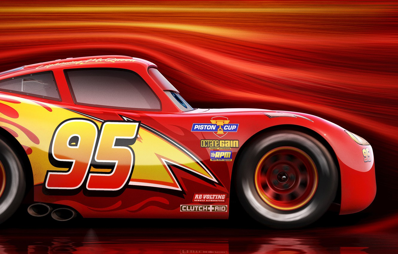 Wallpaper Car Red Disney Cars Race Speed Animated Film