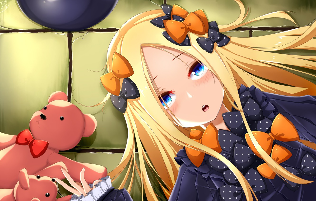 Photo wallpaper toys, anime, art, girl, bears, Teddy bears, Fate Grand Order, The destiny of a great …