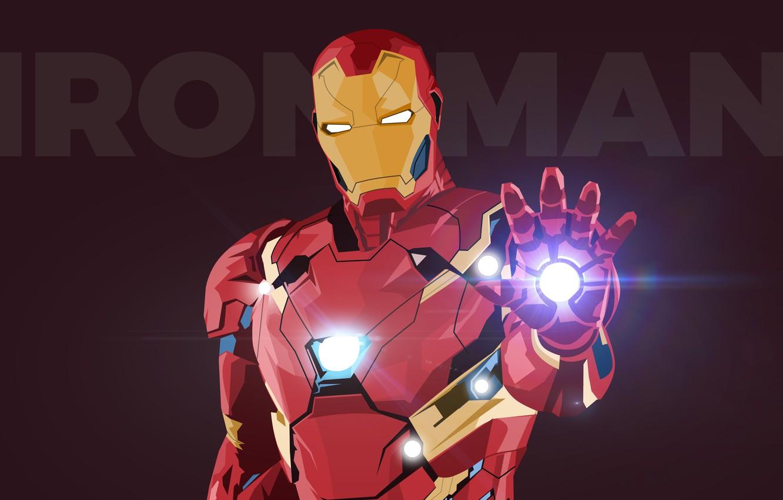 Photo wallpaper background, the inscription, vector, art, costume, helmet, Iron man, Iron Man