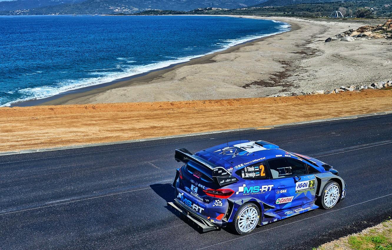 Photo wallpaper Ford, Winter, Sea, Auto, Snow, Sport, Machine, Shore, Ford, Race, Car, WRC, Rally, Rally, Fiesta, …