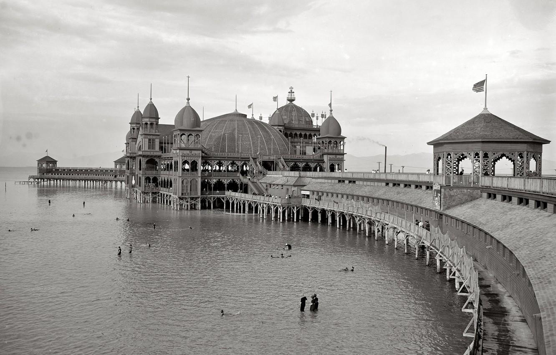 Photo wallpaper sea, retro, pierce, USA, 1900-the year
