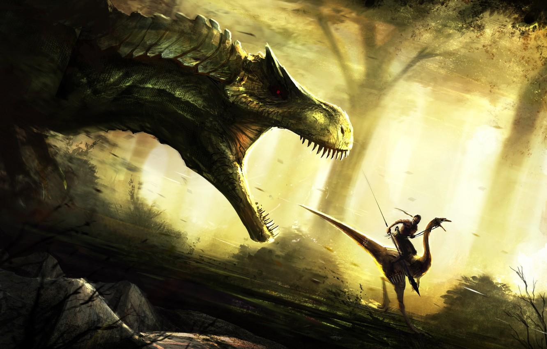 Photo wallpaper dinosaur, art, phone