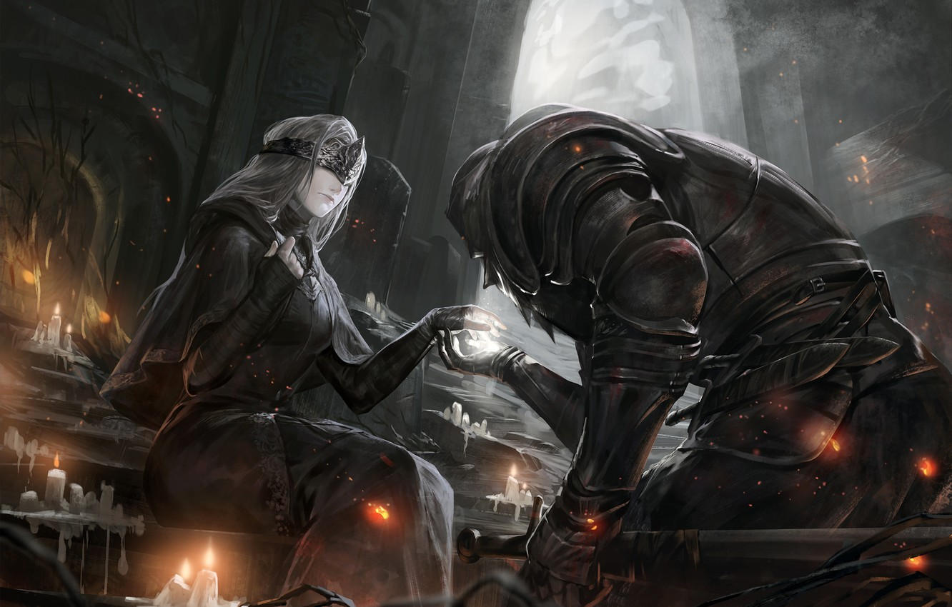 Photo wallpaper girl, the game, art, dark souls