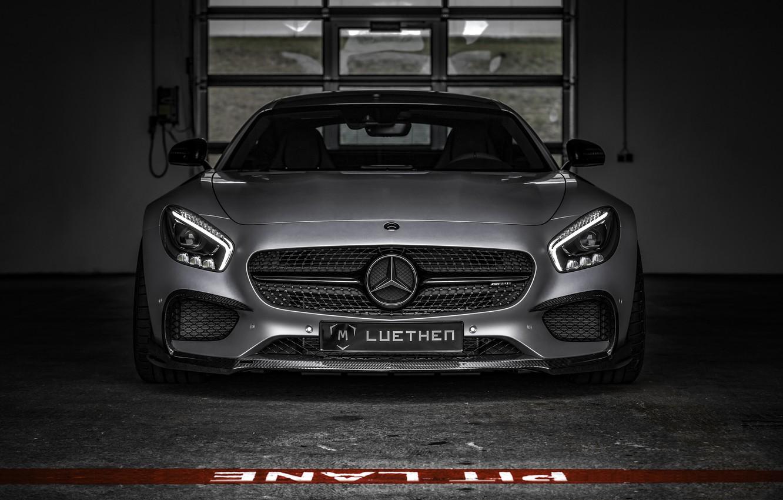 Photo wallpaper Mercedes, supercar, Roadster, Mercedes, AMG, C190, GT-Class