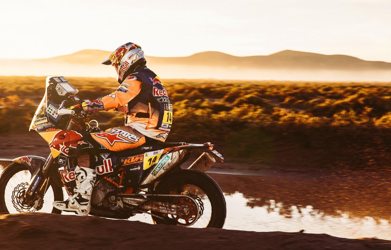 Photo wallpaper Sport, Speed, Motorcycle, Racer, Moto, KTM, Rally, Dakar, Dakar, Rally