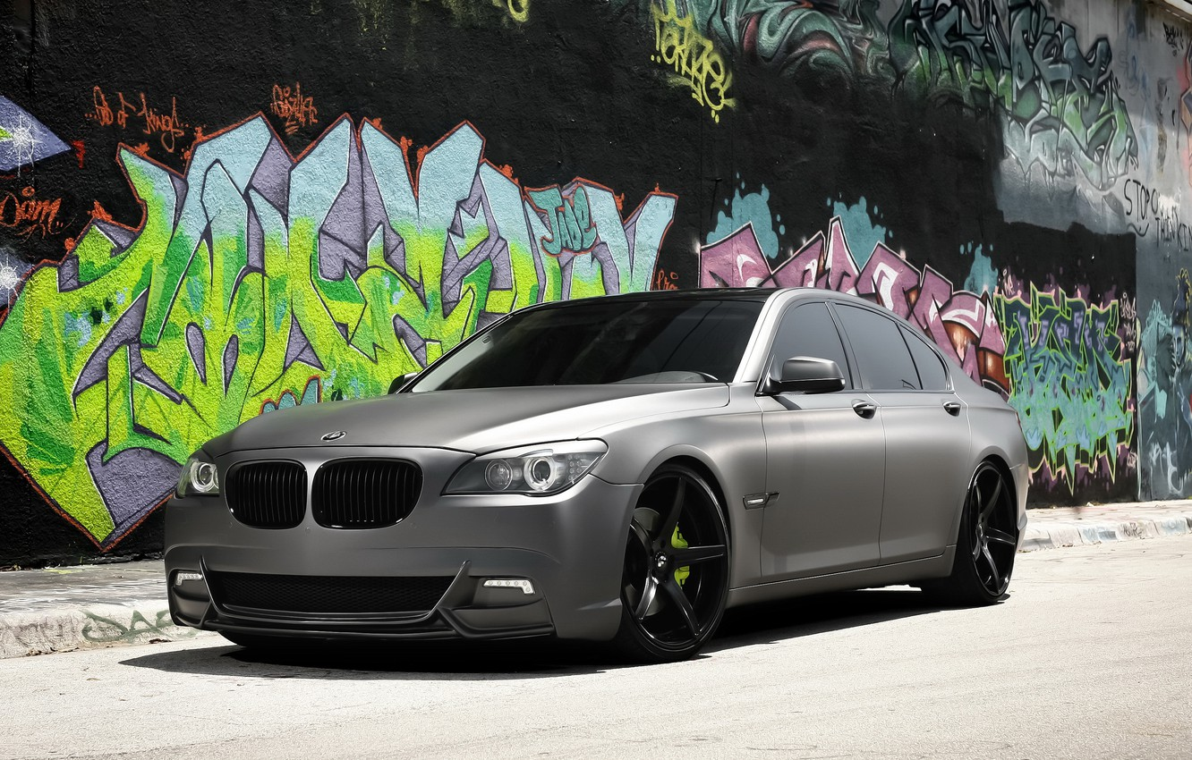Photo wallpaper BMW, with, Series, gray, matte, complete, exterior, wrap