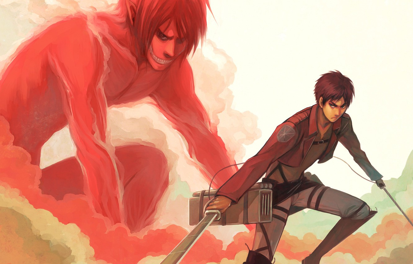 Wallpaper Art Shingeki No Kyojin Eren Yeager Attack Of The Titans