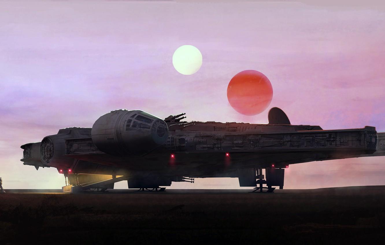 Photo wallpaper Star wars, Star wars, Joseph Diaz, The Moment, Millenium falcon