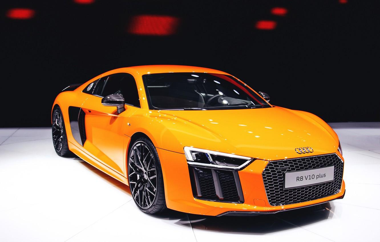 Photo wallpaper Audi, Orange, V10, More