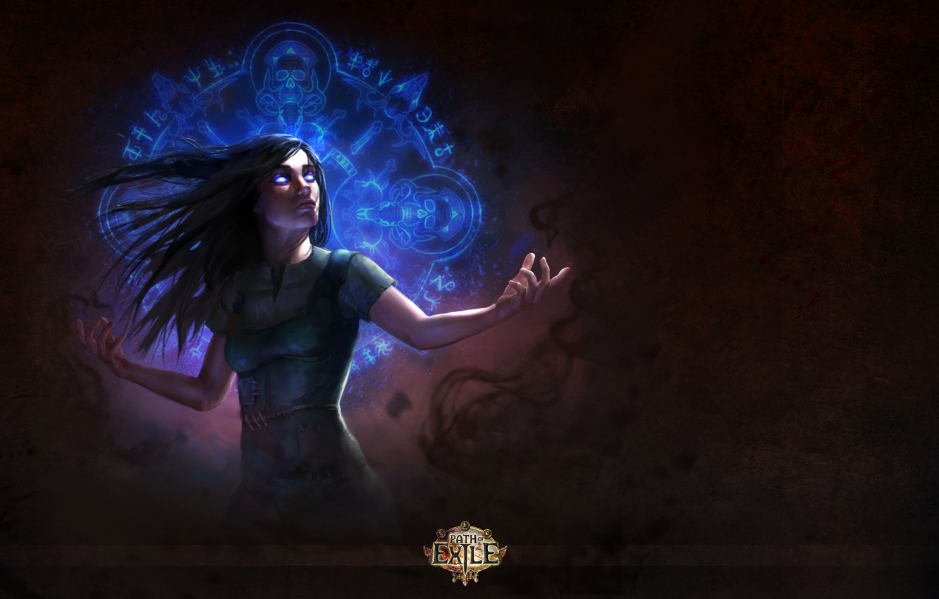 Wallpaper Magic Characters Brunette Witch Witch Path Of Exile