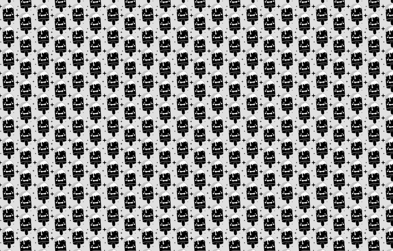 Photo wallpaper white, darkness, black, star, dark, ice cream, white, star, black, fun, ice cream